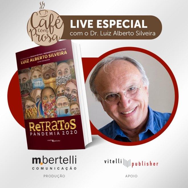É neste sábado, dia 30 de janeiro de 2021 a Live Especial do Café com Prosa.